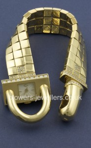18ct Yellow gold Van Cleef & Arples Cadenas bracelet watch