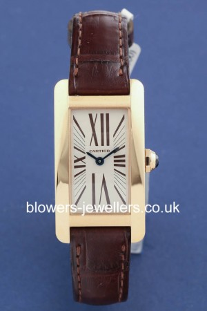 18ct Rose Gold Cartier Tank Americaine W2607056