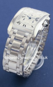 18ct White Gold Cartier Tank Americaine Chronograph