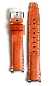 Steel End Leather Strap - Tan