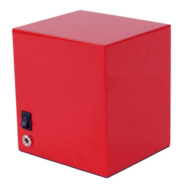 Wolf Lacquered Cub Watch Winder in red