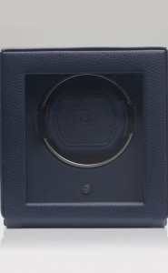 Wolf Cub Watch Winder with Cover in Navy