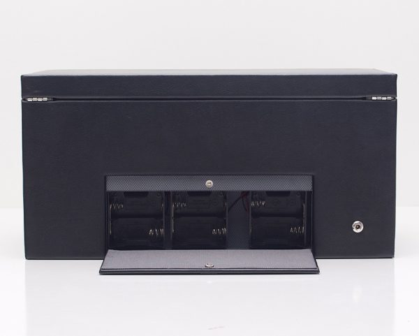 Wolf Viceroy Triple Watch Winder with Storage in Blac