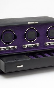 Wolf Blake Triple Watch Winder in Black