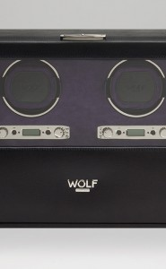Wolf Blake Double Watch Winder in Black