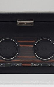 Wolf Roadster Double Watch Winder with Storage in Black