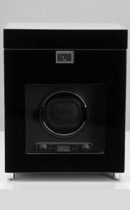 Wolf Savoy Watch Winder with Storage in Black