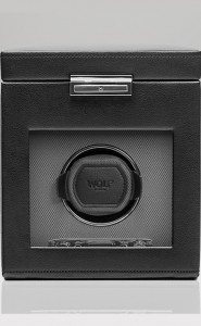 Wolf Viceroy Watch Winder with Storage in Black