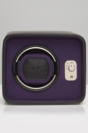 Wolf Windsor Watch Winder in Black & Purple