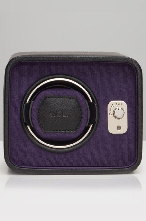 Wolf Windsor Watch Winder in Black & Purple