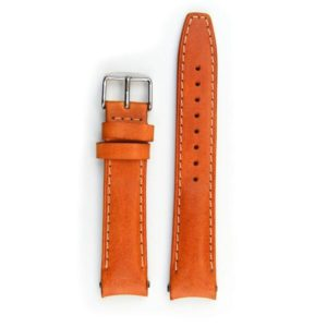 Everest Tan leather strap with stitching (EH12TAN) with curved ends for Rolex Datejust.