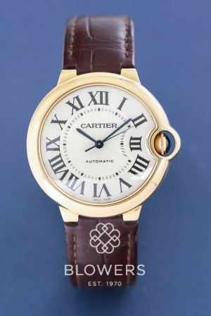 Gents 18ct Yellow Gold Cartier Ballon Bleu W6900356