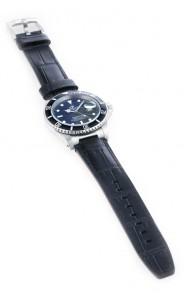 Everest Black Alligator Leather Strap