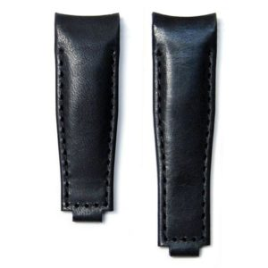 Leather Strap for Rolex Clasp - Black