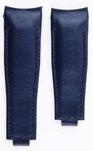 Leather Strap for Rolex Clasp - Blue