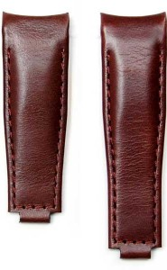 Leather Strap for Rolex Clasp - Brown