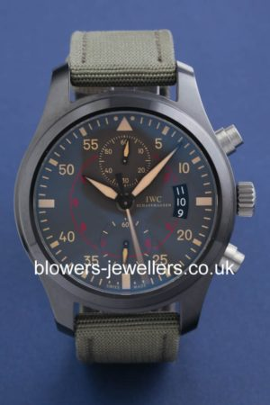 Ceramic/Titanium IWC Big Pilots Watch Chronograph Top Gun Miramar IW3880-02
