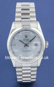 Platinum Rolex Oyster Perpetual Day-Date 118206