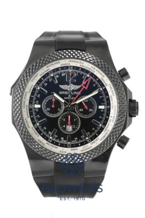 Black steel Breitling Bentley GMT Midnight Carbon Ref: M47362