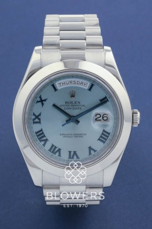 Platinum Rolex Oyster Perpetual Day-Date II 218206