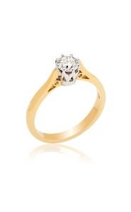 18ct yellow gold 0.46CT brilliant cut diamond ring.