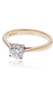 18ct rose gold brilliant cut solitaire diamond ring