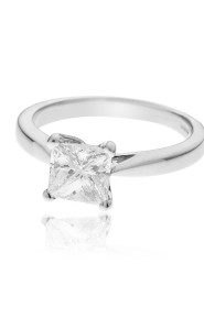 Platinum Princess Cut Diamond Ring. 1.20