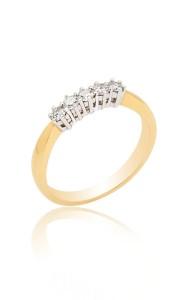 Brilliant Cut 5 Stone Diamond Ring