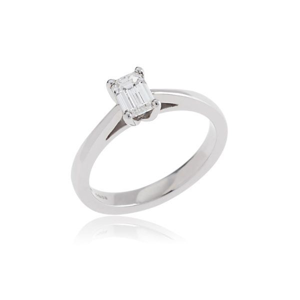 Emerald Cut Diamond 0.71c