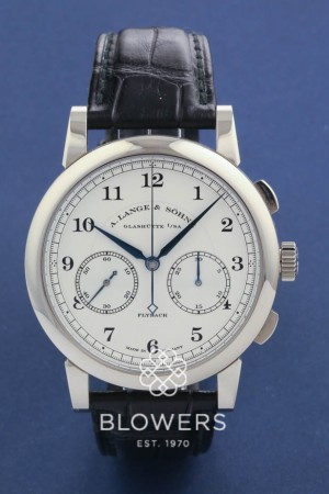 18ct White Gold A. Lange & Sohne 1815 Chronograph. Ref 402.026