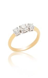 18ct Yellow gold brilliant cut diamond 3