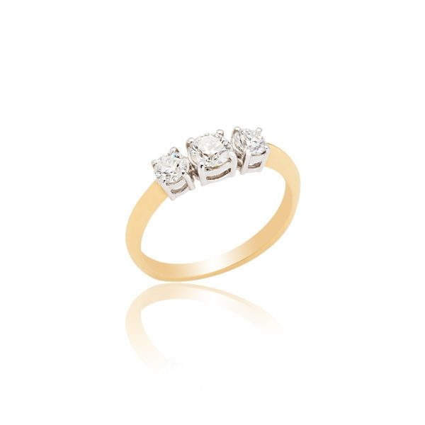 18ct Yellow gold brilliant cut diamond 3