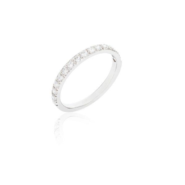 Platinum ladies princess cut dimaond half eternity ring.