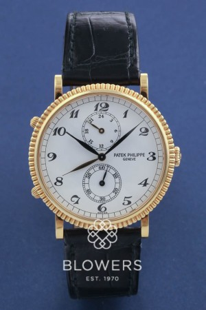 18ct Gold Patek Philippe Calatrava Travel Time 5034J–001