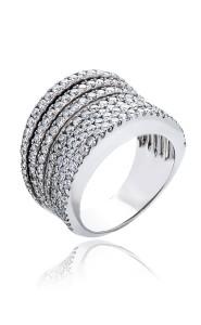 18ct White gold multi band diamond ring