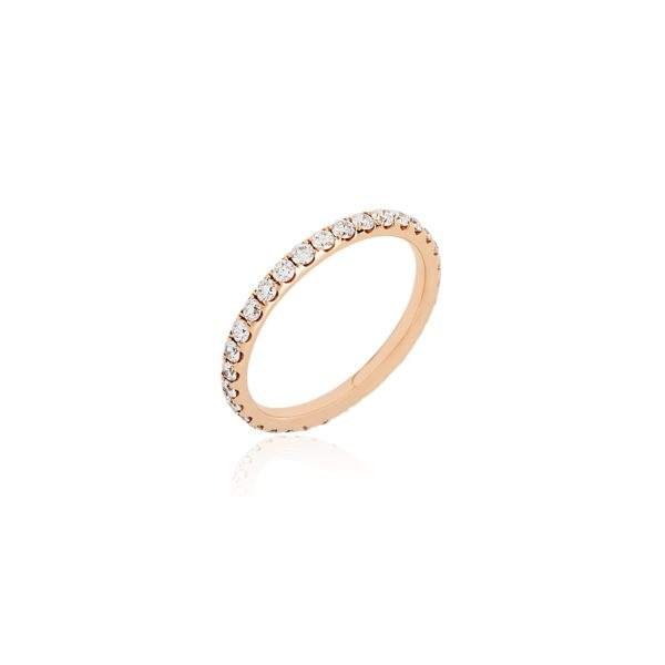 18ct rose gold full eternity diamond ring.