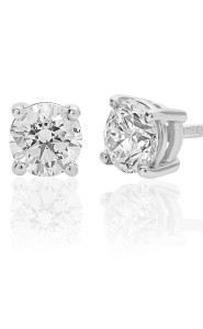 18ct White Gold Brilliant Cut Earrings