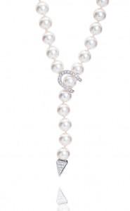 Akoya pearl tassel lariatte necklet