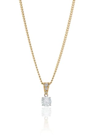 18ct yellow gold pendant with brilliant