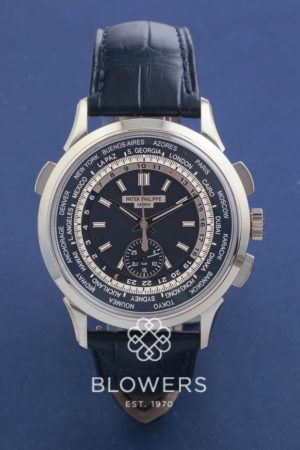18ct White Gold Patek Philippe World Time Chronograph Ref: 5930G-001
