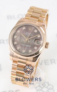 18ct Everose Rolex Oyster Perpetual Datejust mid-size 178245