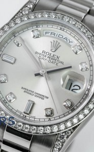 18ct white gold Rolex Oyster Perpetual Day-Date 118389
