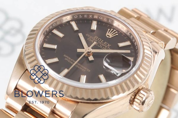 8ct Everose Gold Rolex Oyster Perpetual Datejust 279175