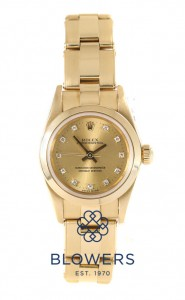 Ladies 18ct yellow gold Rolex Oyster Perpetual 76188