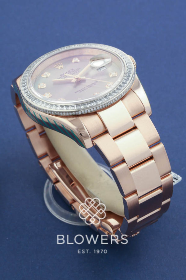 Rolex 18ct Everose Gold Oyster Perpetual Datejust 116285