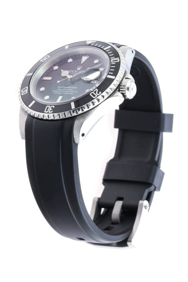 Everest Rolex Rubber Strap Black