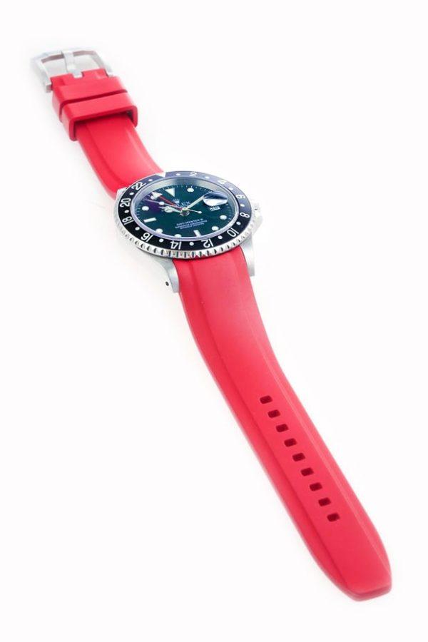 Everest Rolex Rubber Strap Red