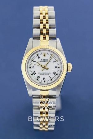 Bi-Metal Ladies Rolex Oyster Perpetual 76193