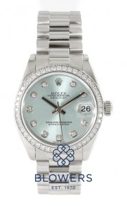 Platinum ladies Rolex Oyster perpetual Datejust Mid-size 178286