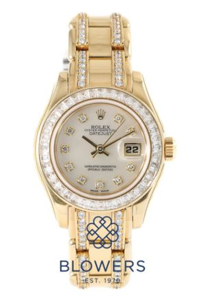 18ct gold Rolex Oyster Perpetual Lady-Datejust Pearlmaster 69308 BR